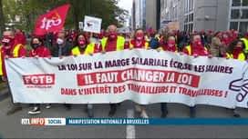 RTL INFO 19H : Journée d'action à Bruxelles et Liège contre la loi sur la norme sa...
