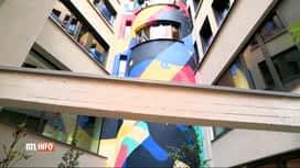RTL INFO 13H : Un ancien squat du centre de Bruxelles transformé en logements étud...
