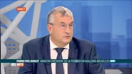 """RTL INFO 13H : Pascal Vrebos reçoit Pierre-Yves Jeholet dans son émission """"L'invité"""""""