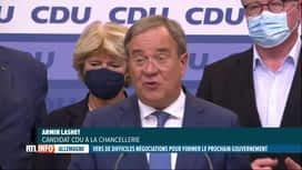 RTL INFO 13H : Élections en Allemagne: le parti d'Angela Merkel a perdu, place à O...