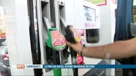 RTL INFO 19H : Le prix du diesel atteint un record historique en Belgique