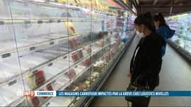 RTL INFO 19H : Les rayons des magasins Carrefour toujours vides
