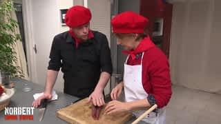 Joëlle, blanchiment d'axoa basque / Jean-Baptiste, outrage au poulet