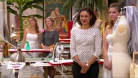 Cousu main : Les finalistes doivent coudre des robes de mariées sur leurs amies
